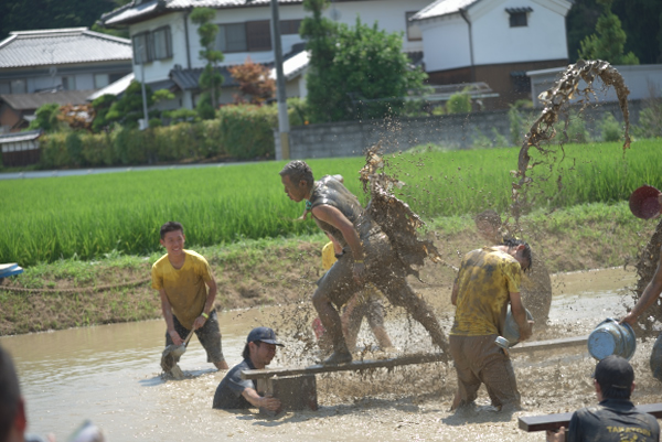 泥水の洗礼